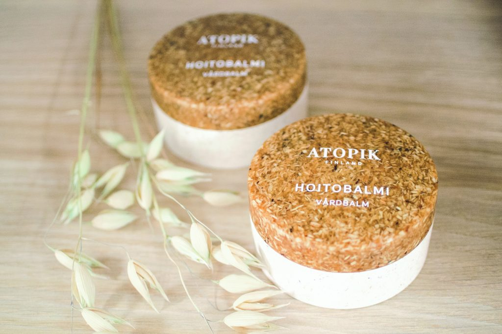 Naviter's Atopik All Over Balm in Sulapac biodegradable packaging