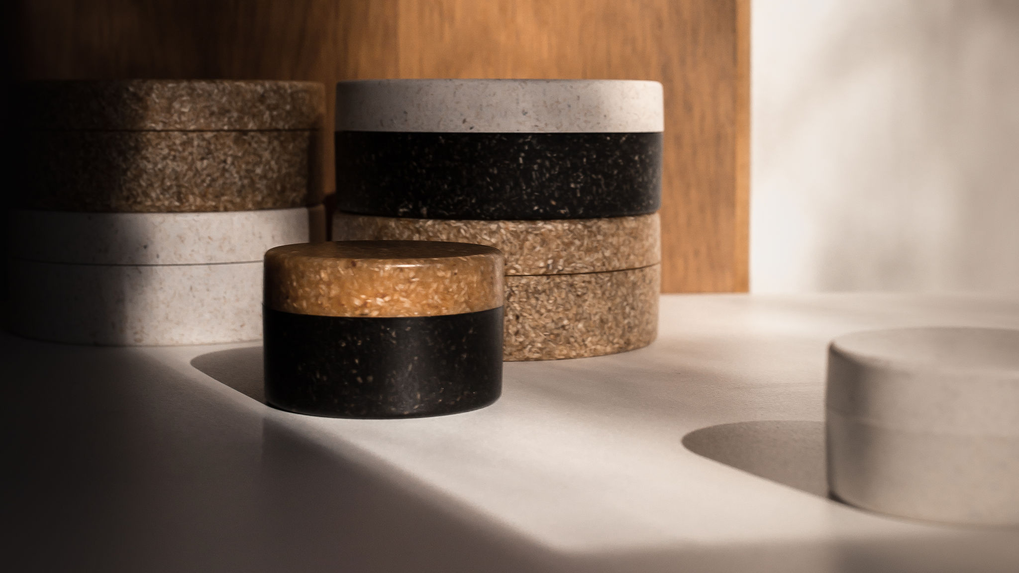 Sulapac Premium jars containing FSC certified wood